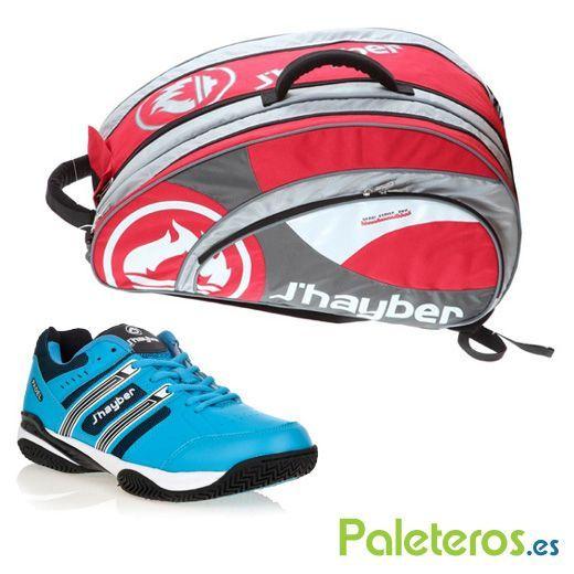 Paletero rojo de Jhayber y zapatillas Tafort azul