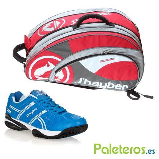 Paletero Rojo de Jhayber y zapatillas Taves azul