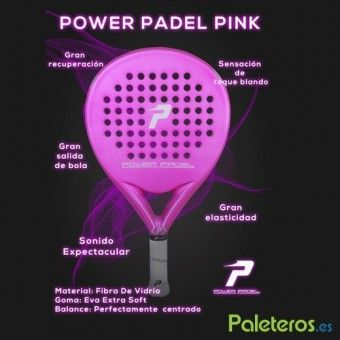 Características de la pala Pink Power Padel
