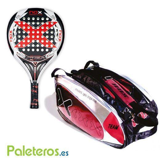 Pack de pala Stinger ML 2.15 y paletero rojo de Nox
