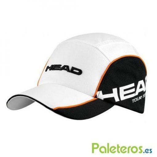 Gorra Tour Team blanca y negra de HEAD