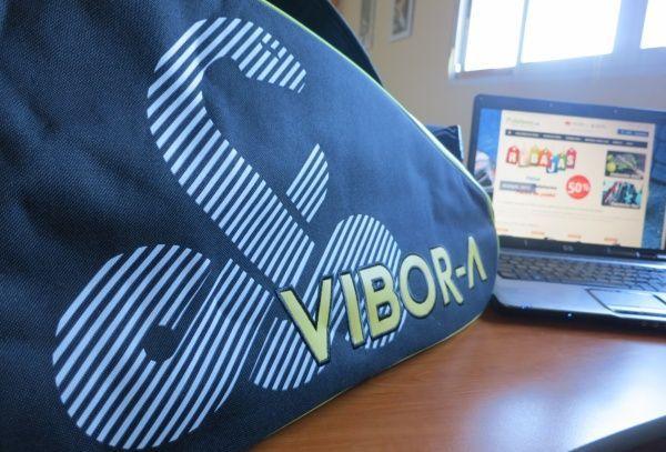 Vista del logo bordado del paletero Vibora