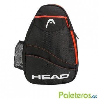 Sling Pádel Bag negra y naranja de HEAD