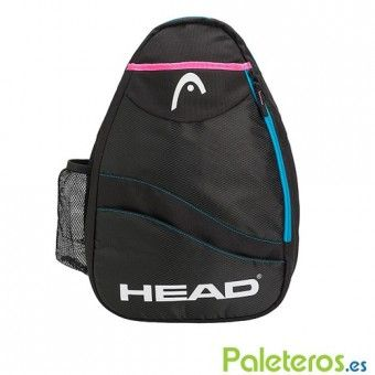 Mochila bandolera Head Sling Bag negra y rosa