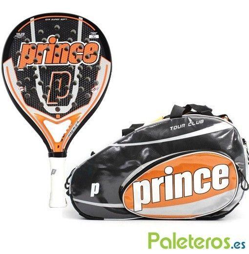 Pala Premier Propulsion + paletero naranja de Prince