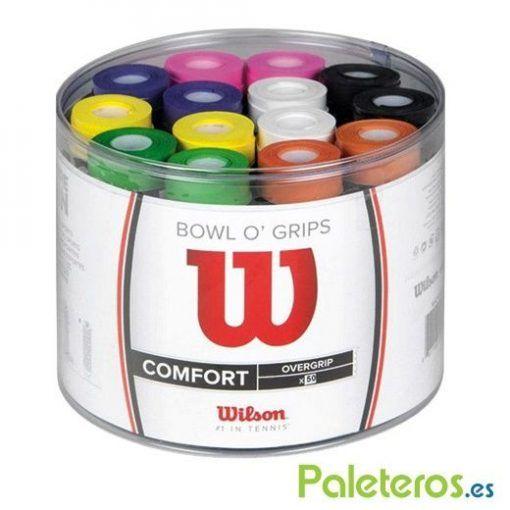 Tambor de 50 overgrips Wilson de colores