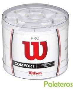 Tambor de 60 overgrips Pro blancos de Wilson