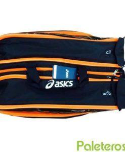 Paletero Asics Padel Bag negro y naranja