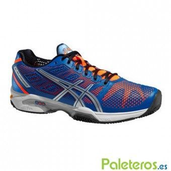 Zapatillas Asics Gel Solution Speed 2 Clay azul y naranja