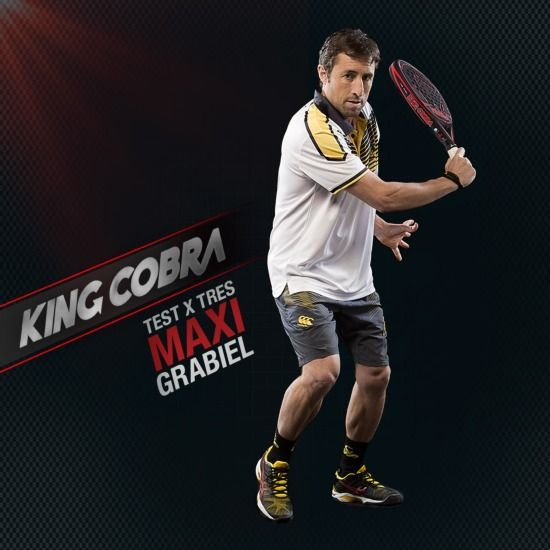 Maxi Grabiel con la pala King Cobra