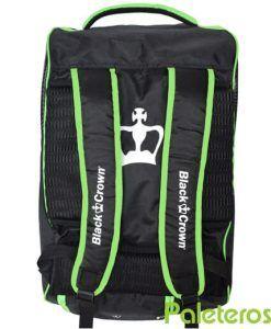 Uso de mochila paletero verde Black Crown