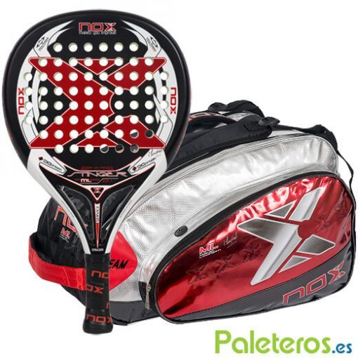 Pala Stinger ML 2.1 y paletero Team Rojo de Nox
