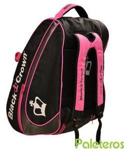 Uso como mochila del paletero Black Crown rosa