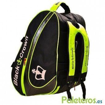 Uso como mochila del paletero negro-amarillo de Black Crown