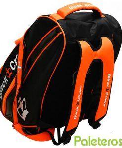 Uso como mochila del paletero Black Crown naranja