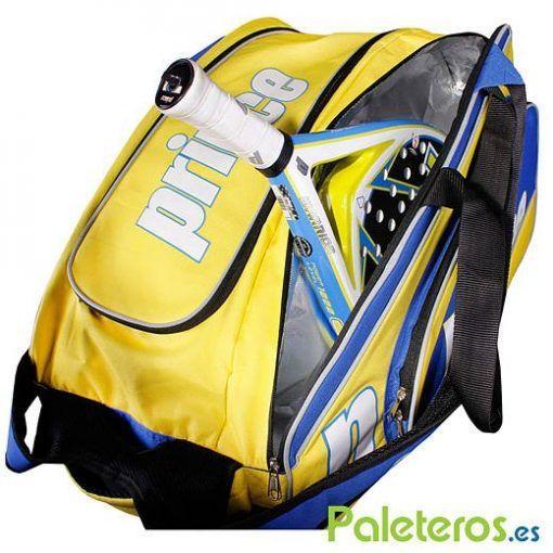 Paletero Warrior Club amarillo y azul de Prince