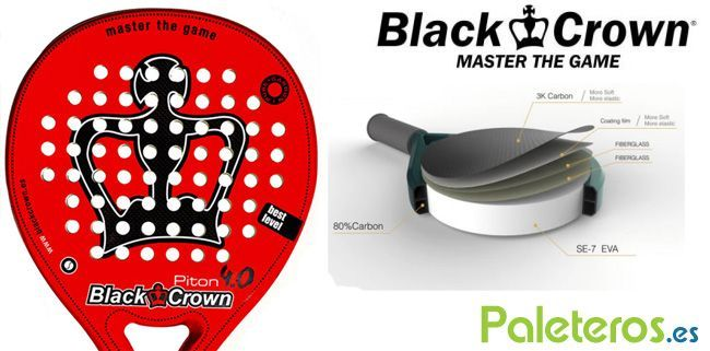 Características de la pala Piton 4.0 de Black Crown