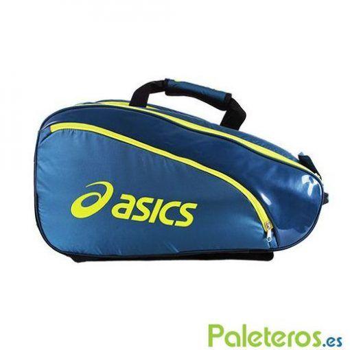 Paletero Asics Padel azul y lima de 2016