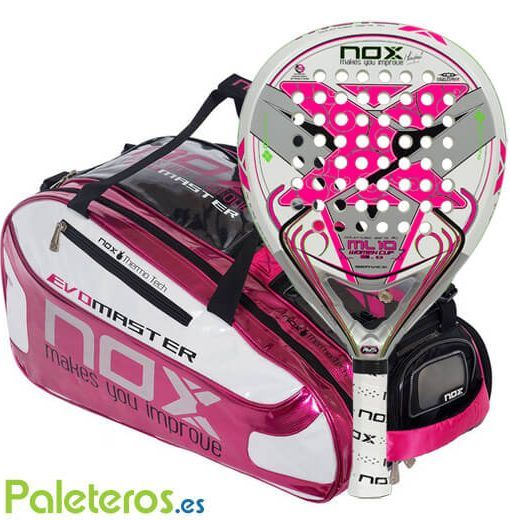 Pala ML10 Woman A1 y paletero rosa Nox
