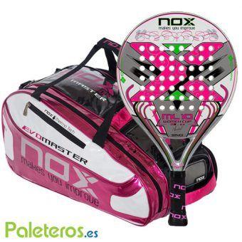 Pala ML10 Woman y paletero rosa de NOX