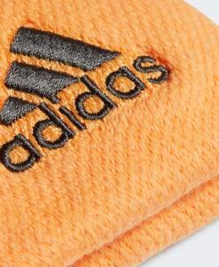 Muñequeras Adidas Naranjas Detalle