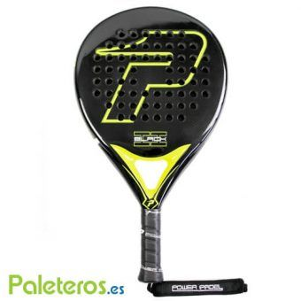 Pala Power Padel Black Brillo