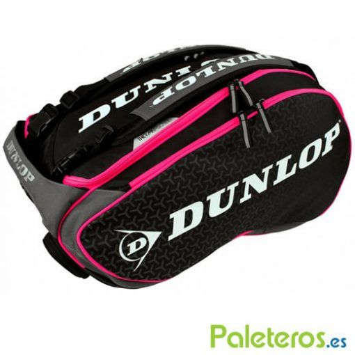 Paletero Dunlop Elite rosa-negro