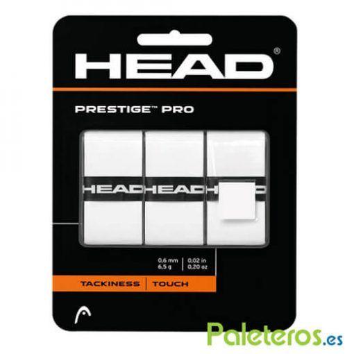 Blister 3 overgrips Head Prestige blancos