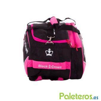 Bolsa de pádel rosa y negra de Black Crown