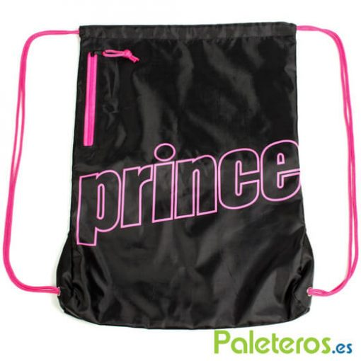 Mochila Prince de nylon negra y rosa