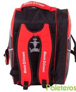 Uso mochila del paletero Black Crown rojo y negro