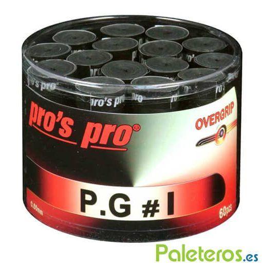 Overgrips Pros Pro negros perforados