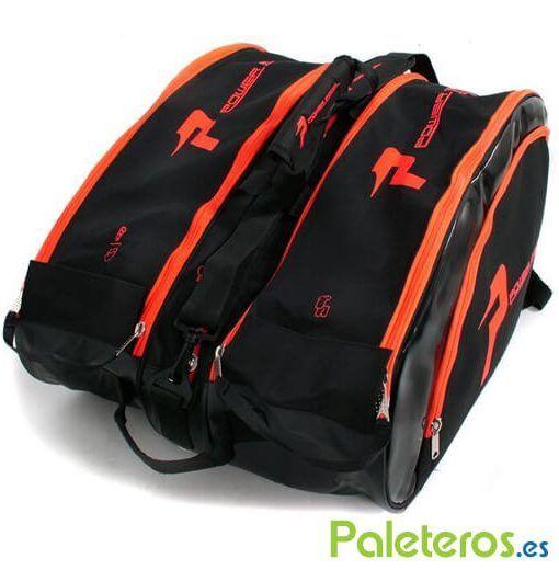 Paletero Power Padel XXL negro y naranja
