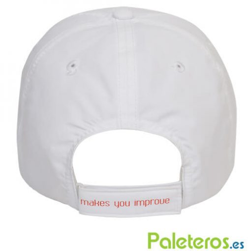 Cinta ajustable en la gorra blanca de NOX