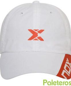 Gorra NOX blanca y roja