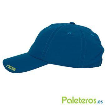 Lateral gorra azul de Nox