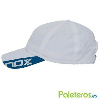 Vista lateral gorra blanca de Nox