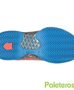 Suela de espiga zapatillas Hypercourt Express Hb coral de K-Swiss