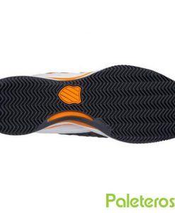 Suela zapatillas Hypermatch blancas y negras de Kswiss
