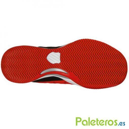 Suela de espiga zapatillas Hypermatch HB rojas de K-Swiss