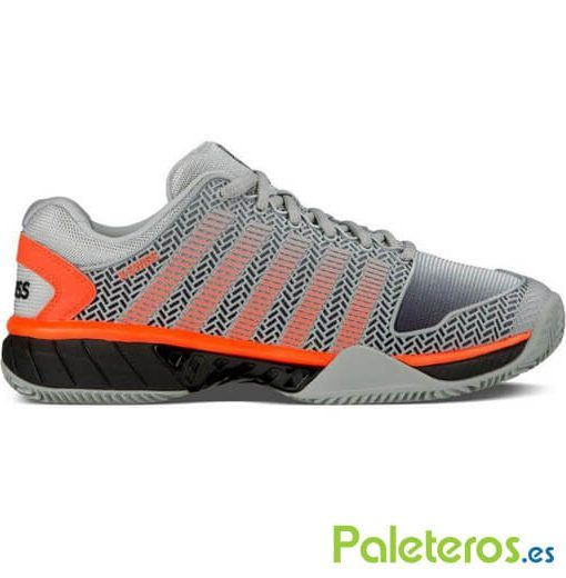 Zapatillas K-swiss Hypercourt Express Hb grises y naranjas