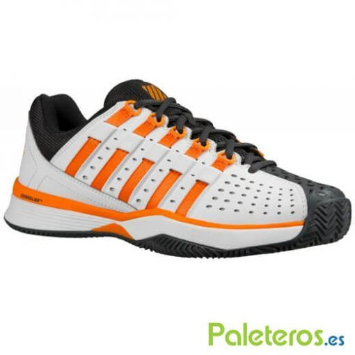 Zapatillas K-Swiss Hypermatch blanca-negra-naranja