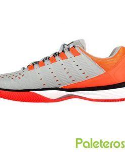 Zapatillas K-Swiss Hypermatch HB naranjas y grises