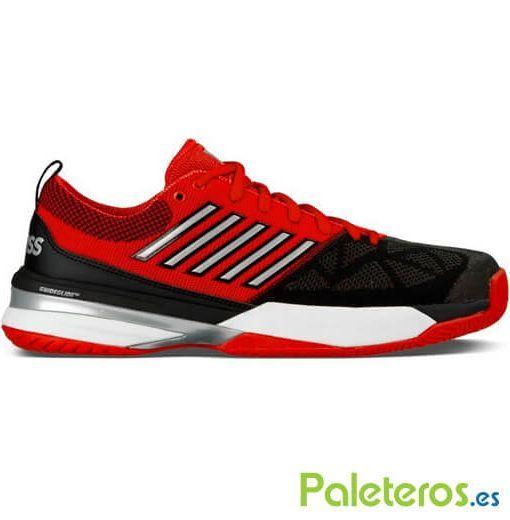 Zapatillas K-Swiss Knitshot rojas y negras