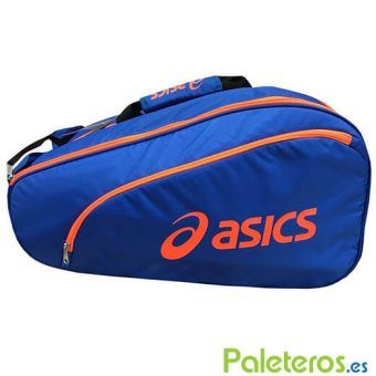 Paletero Asics Imperial azul y naranja