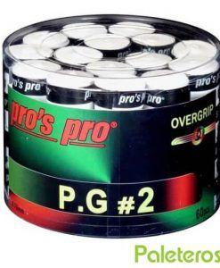Tambor Overgrips Pro´s Pro Blancos Perforados