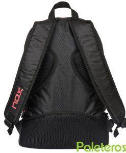 Espalda acolchada mochila negra y roja NOX