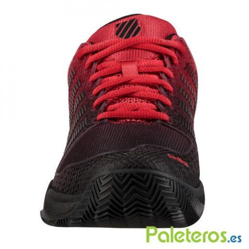 K-Swiss Hypercourt Express Roja-Negra Zapatillas
