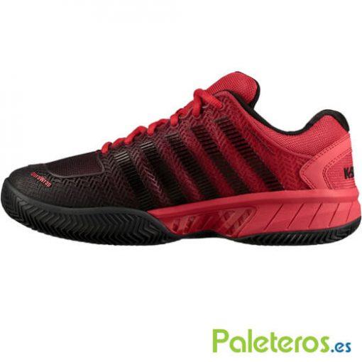 Zapatillas K-Swiss Hypercourt Express Roja-Negra 19