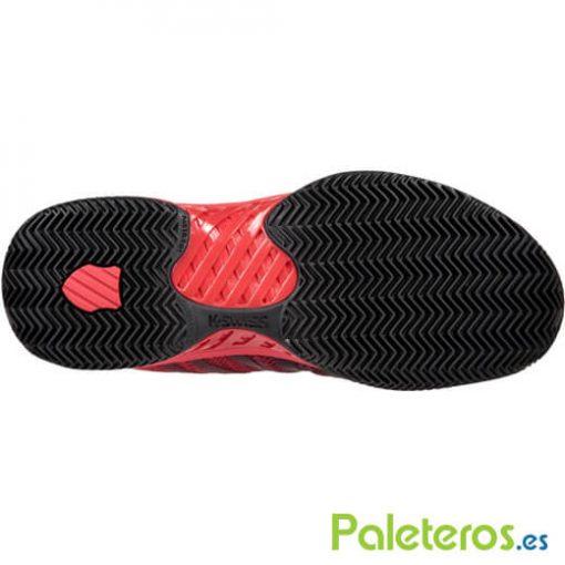 Zapatillas K-Swiss Hypercourt Express Roja-Negra Suela